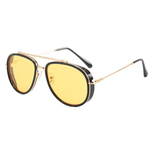 Retro Steampunk Metal Frame Sunglasses