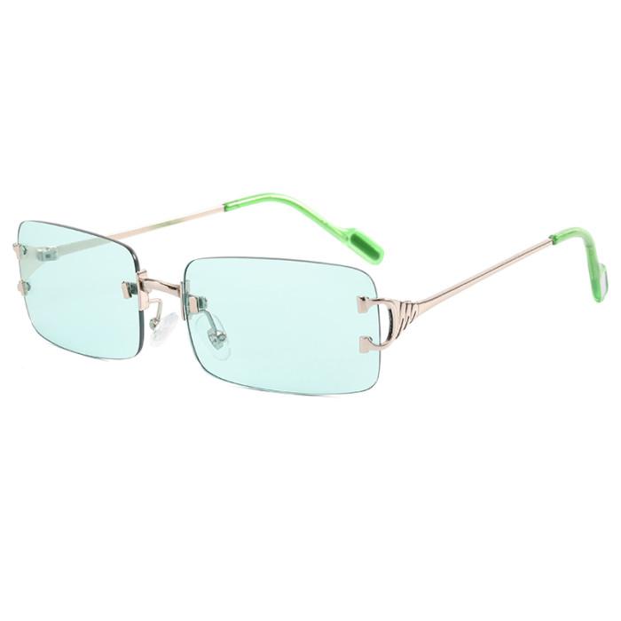 Rimless Rectangle Sunglasses