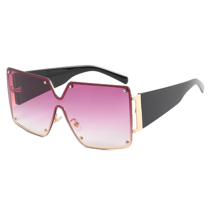 Oversize UV400 Gradient Shades Sunglasses