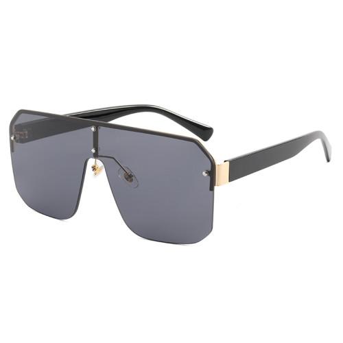 One Piece Tinted Lens UV400 Rimless Sunglasses