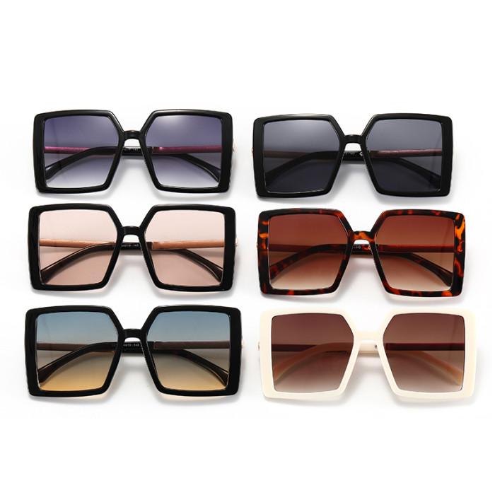 Fashion 2021 Square Oversized Gradient Shades Sunglasses