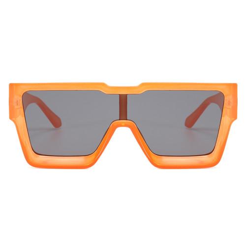 Flat Top Men Women UV400 Oversize Sunglasses