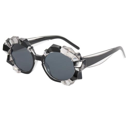 Round Big Frame UV400 Women Shades Sunglasses