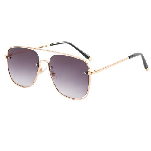 Metal Frame UV400 Gradient Shades Sunglasses