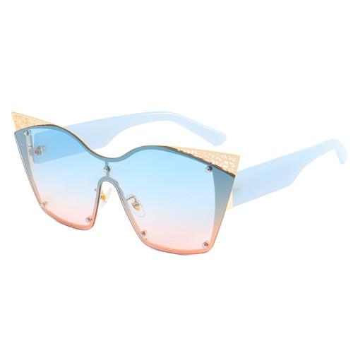 Fashion 2021 Oversize Cat Eye Shades Sunglasses