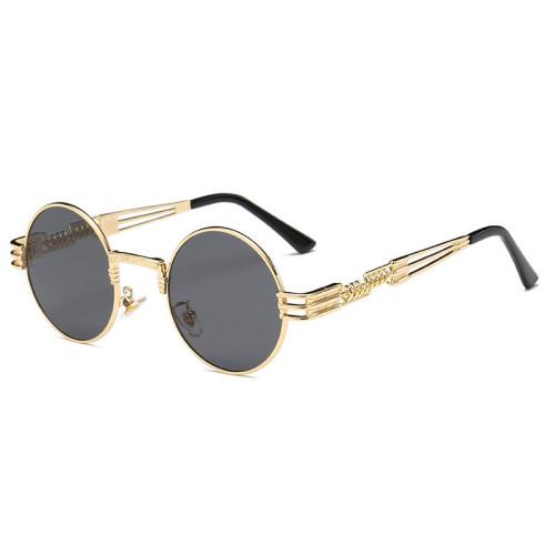 Retro Vintage Round steam punk sun glasses