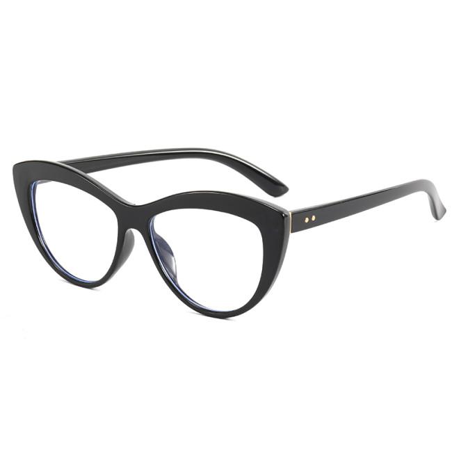 Clear Lens Eyeglasses Frame Cat Eye Computer Blue Light Blocking Glasses