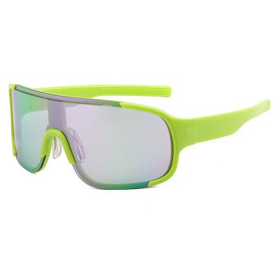 One Piece Lens Oversized Sports Sunglasses