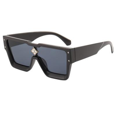 Luxury Flat Top One piece Lens Men Women Oversize Shades Sunglasses