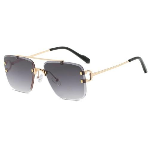 Suqare Rimless Sunglasses