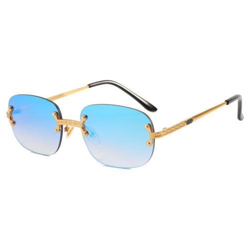 Men Women Rimless Sunglasses