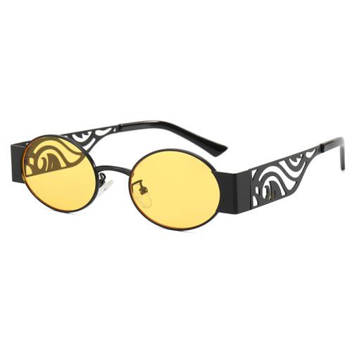 Metal Frame Steam punk Small Round Sunglasses