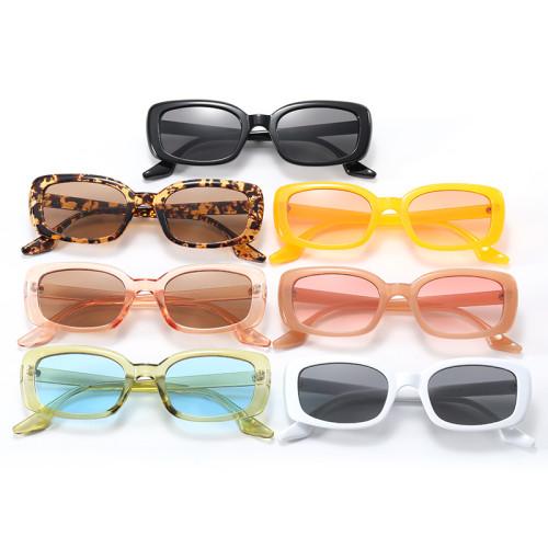 Retro Solid Plastic Small Rectangle Sunglasses