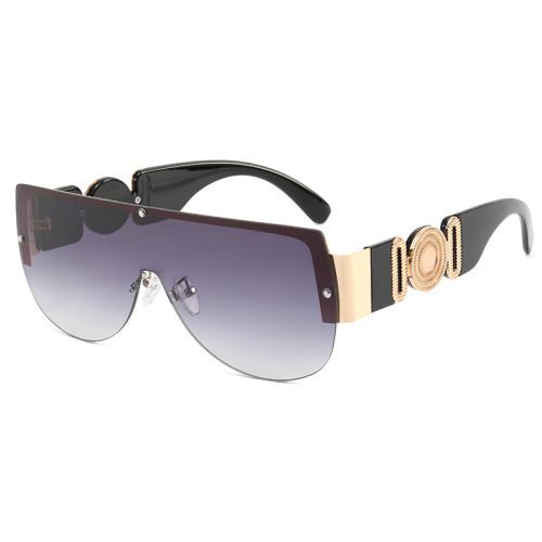 One Piece Lens Oversize Shades Sunglasses