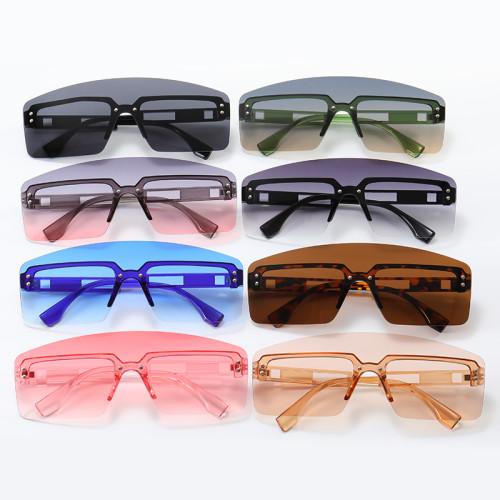 One Piece Tinted Lens Women Ladies UV400 Rimless Sunglasses
