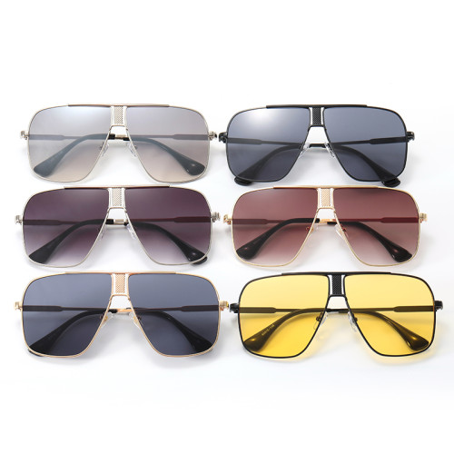Metal Frame Gradient Shades Sunglasses