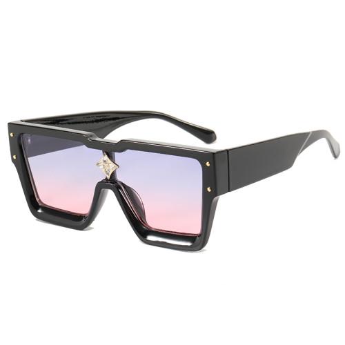 Flat Top One piece Lens Men Women Shades Sunglasses