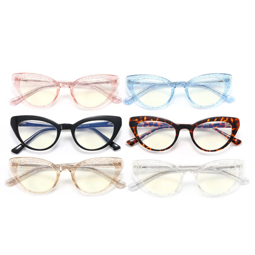 Glitter Cat Eye Blue Light Blocking Glasses
