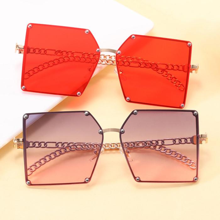 Square Rivet Chain Sunglasses