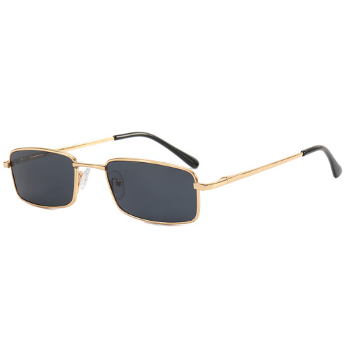 Small Rectangle Metal Frame Sunglasses