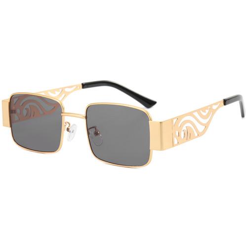 UV400 Square Metal Frame Sunglasses