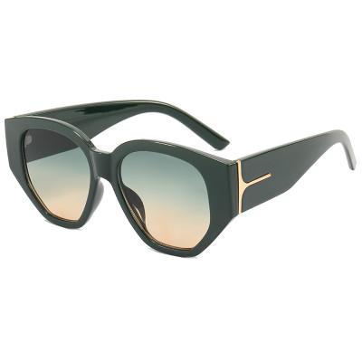 Fashion 2021 Retro Vintage Plastic Polygon Shades Sunglasses