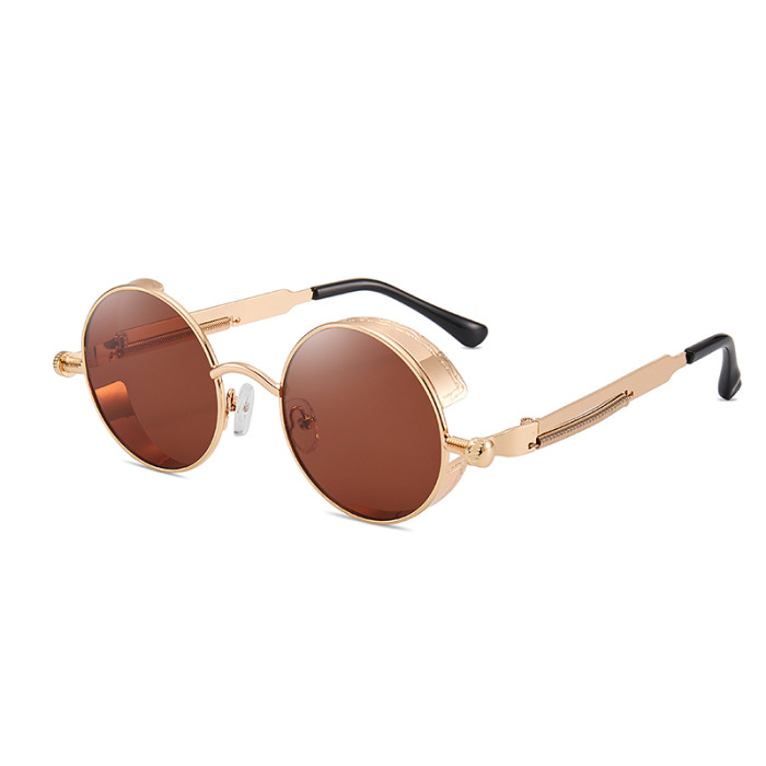 Gothic Round Metal Steampunk Sunglasses