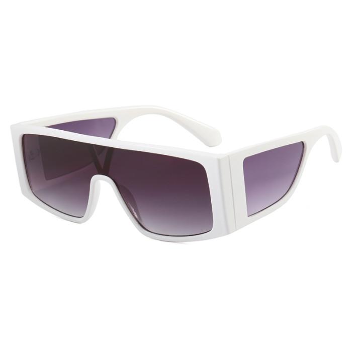 Big Frame Oversized One Pieces Lens Sunglasses