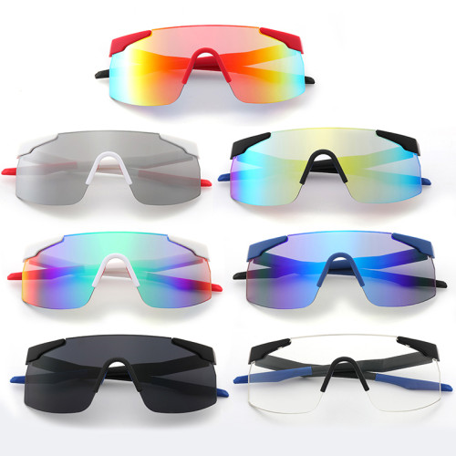 One Piece Lens Oversized Sports Outdoor Sunglasses