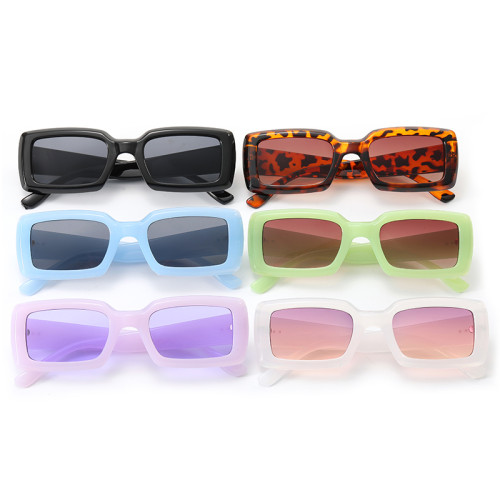 Retro Vintage Plastic Small Rectangle Sunglasses