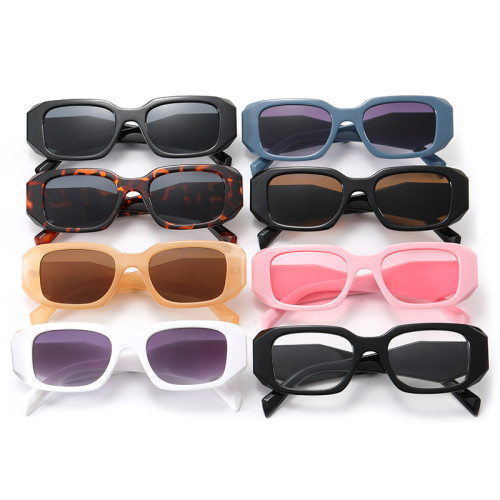 Retro Vintage Plastic Rectangle Sunglasses