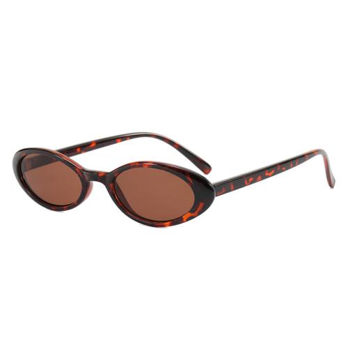 Retro Vintage Cheap Plastic Small Oval Sunglasses
