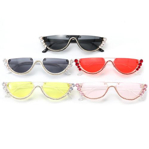 Half Frame Shades Small Cat Eye Sunglasses