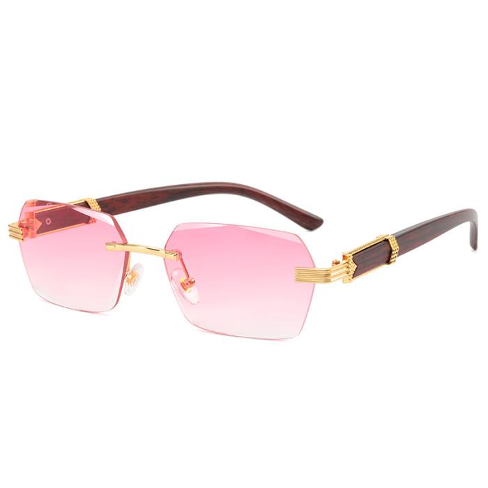 Fashion Small Rectangle Rimless Sunglasses