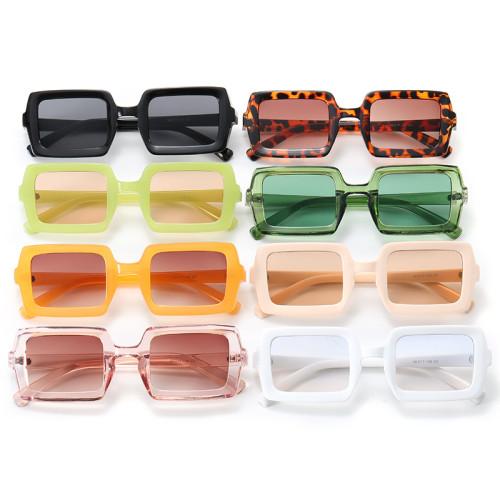 Retro Men Women Rectangle Sunglasses