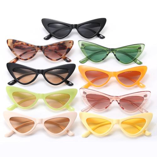 Cat Eye Women Small Triangle Sunglasses