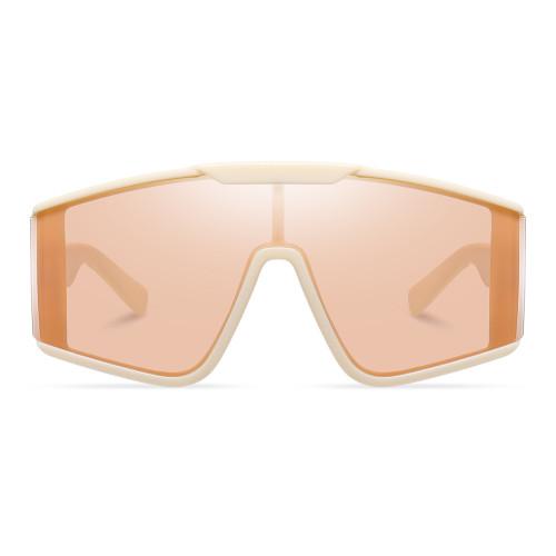 Oversized One-piece Lens Sunglasses