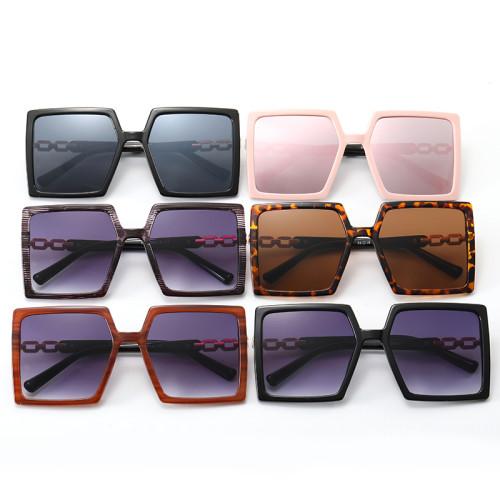 Gradient Big Frame UV400 Trendy Square Oversized Women's Sunglasses