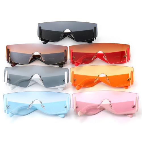 Flat Top One Piece Lens Men Women UV400 Shades Sunglasses