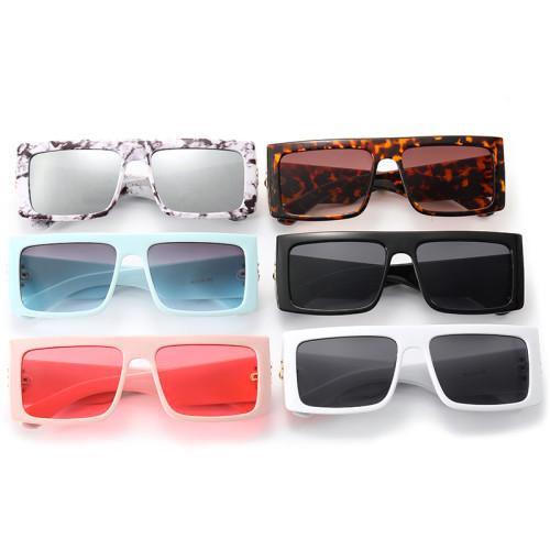 Luxury Vintage Sun glasses Retro Flat Top Rectangle Sunglasses