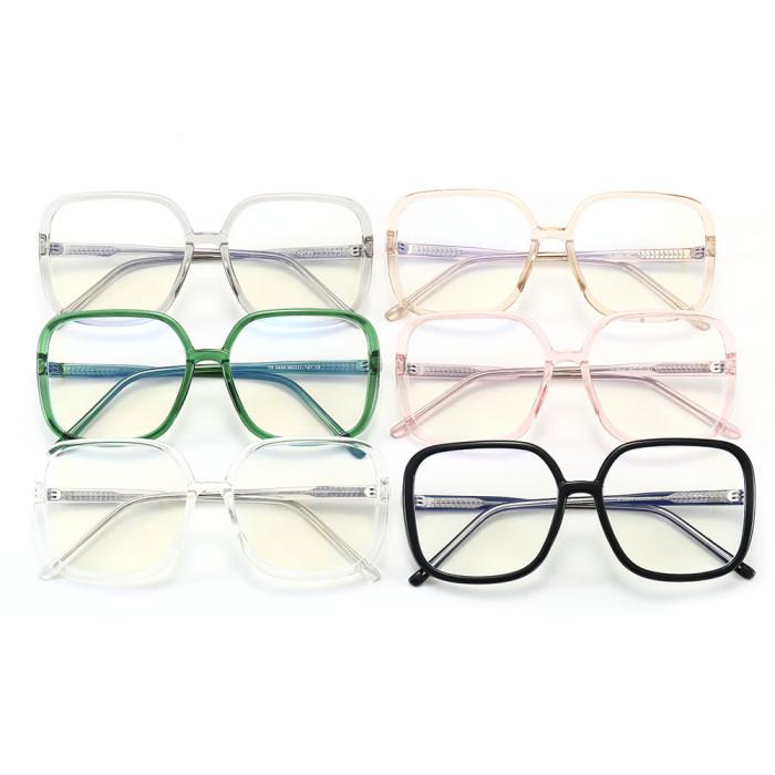 Men Women Optical Frames Oversized Square Blue Light Blocking Glasses