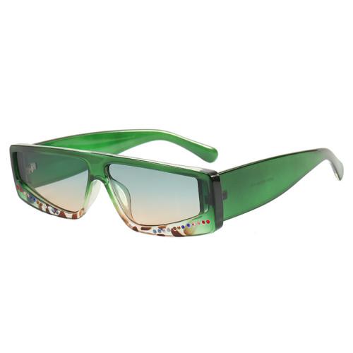 Retro Flat Top Rectangle Sunglasses