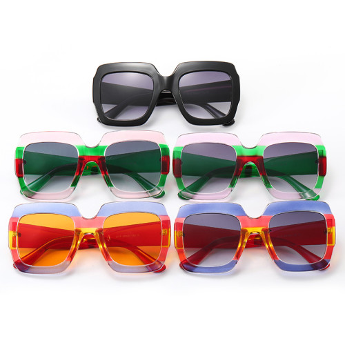 UV400 Big Frame Oversized Square Shades Sunglasses