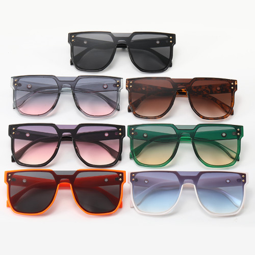 Big Frame Oversize Flat Top UV400 Protection Shades Sunglasses