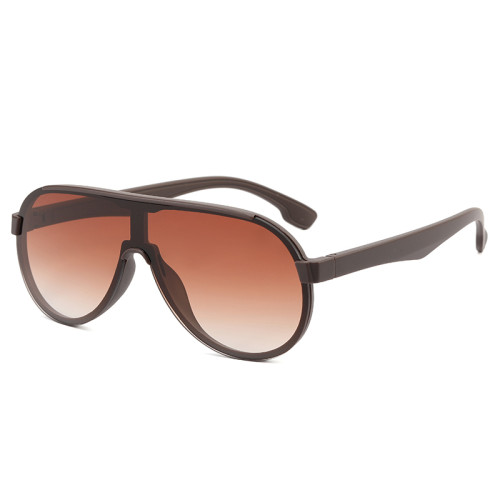 Ready Stocked Flat Top One Piece Lens Oversized Shades Sunglasses