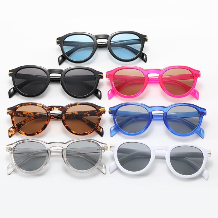 Men Women Retro Round Sunglasses