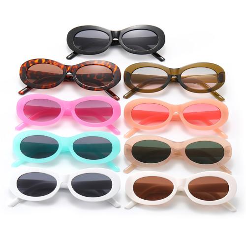 Retro Plastic Small Oval Sunglasses