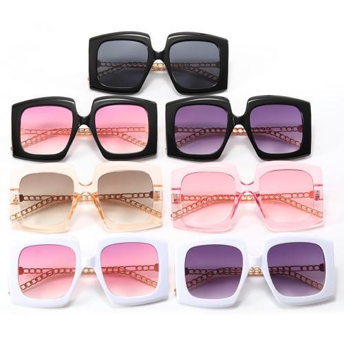 Women Square Chain Sunglasses