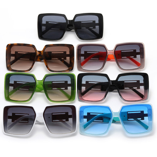 Square UV400 Oversized Shades Sunglasses
