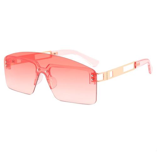 One Piece Tinted Lens Rimless Sunglasses
